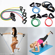 New Unisex Exercise Latex Resistance Bands Tube Workout Gym Yoga Fitness Stretch