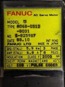 Fanuc A06B-0512-B031/AC Servo Motor/ model: 5
