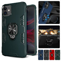 For iPhone 11 Pro Max XR XS 8 7 6 SE2 Hybrid Ring Holder Stand Armor Case Cover