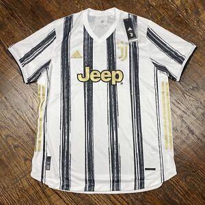 Adidas Juventus 20/21 Heat.Rdy Authentic Home Soccer Jersey Men's Sz XL (GJ7601)