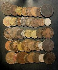 Vintage Great Britain Coin Lot - 1799-PREDECIMAL - 40 Coins - Lot #O20