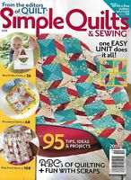 Simple Quilts and Sewing Magazine French Apron Pincushions Baby Dribble Cloths