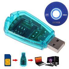New Blue USB Standard SIM Card Reader GSM CDMA Cellphone SMS Backup