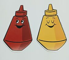 """Teacher Resource: 24 Ketchup and Mustard Bulletin Board Accents 7"""" tall"""