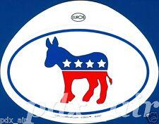 UNITED STATES DEMOCRATIC DONKEY PARTY OVAL STICKER