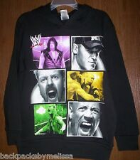 WWE John CENA The Rock Ryback HOODIE Jacket Boy's size 4/5 NeW Black Sweatshirt
