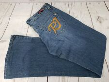 Princess Women Sz 5/6 Blue Embroidered Rhinestone Pocket Denim Stretch Jeans