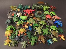 Plastic Toy Frogs Lot of 50 _ Toad Tree Poison Green Bullfrog Red-eyed Tadpole