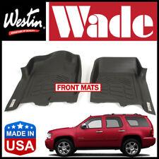 Westin Wade Sure-Fit 2007-2014 Chevrolet Tahoe Front 1st Row Floor Mats BLACK