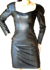 NORTH BEACH FITTED BLACK LEATHER DRESS  - SIZE SMALL