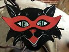 "Vintage Repro Mod Cat, 7 Colors Glasses Halloween Cardstock Decoration,4"",5"", 6"""