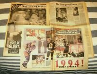 JUNE 15 1994 NEW YORK RANGERS STANLEY CUP CHAMPS LOT OF 3 DIFF NY NEWSPAPERS