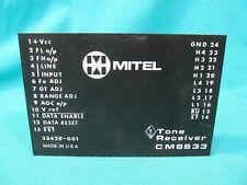 MITEL CM8833 TOUCH TONE RECEIVER MODULE