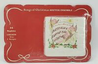 Vintage Songs of Christmas Hostess Party Ensemble 12 Placemats 24 Napkins SEALED