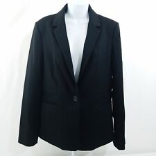 EXPRESS Womens Size 12 Black Blazer Jacket Lined Wear To Work Casual Formal