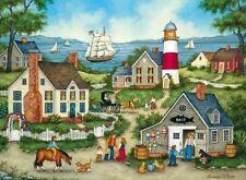 Jigsaw puzzle Landscape Village Life Seascape Buying Bait 500 piece NEW