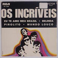 "OS INCRIVEIS: Latin Soul Rock EP Victor Portugal 7"" 45 Rare VG+ 1970 Original"
