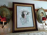 "Beautiful Original Oil Painting, Oil on Canvas, Signed, ""French Model"" Framed"