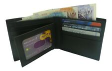 Streeze RFID Mens Real Leather Wallet in Gift Box Black and Brown