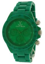 ToyWatch Monochrome Chrono Green Plasteramic Date Quartz Watch MO11GR