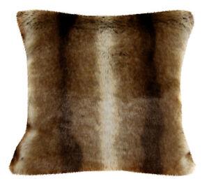 Fq804a Brown Thick Long Stripe Faux Fur Cushion Cover/Pillow Case*Custom Size*