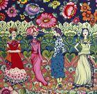 Alexander Henry~FRIDA LA CATRINA ~Kahlo~Folklorico~Mexican~PLUM~Fabric~1/2 yard