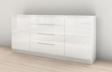 """Sideboard """"Oliva"""" 166 cm Kommode Schrank Weiß Hochglanz Design Trend"""