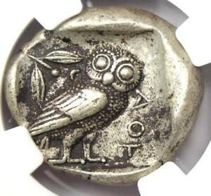 Athens Greece Athena Owl Tetradrachm Coin (465-455 BC) - NGC XF - Early Issue!
