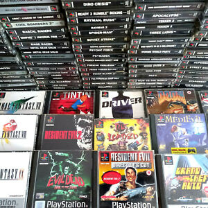 PS1 Games Resident Evil, Final Fantasy, Grand Theft Auto, Loaded, Playstation 1