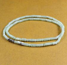 Light green 100% Natural A JADE JADEITE Bead Beads Necklace Bride jewelry C0201