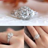 Bague de fiançailles pour femme avec bague en diamant taille anniversaire 6-10.