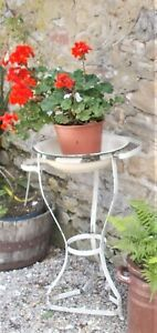 antique metal washstand, French, plant display, bathroom, garden, conservatory