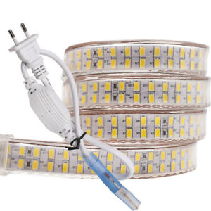 240leds/m SMD 2835 led strip 220v flexible waterproof led tape + Power EU plug