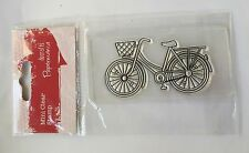 BNIP Clear Unmounted Small Stamp Papermania Bicycle Bike Basket