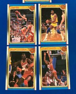 1988 Fleer Sticker BIRD / MAGIC / EWING / BARKLEY / OLAJUWON * LOT of 5 *