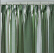"""Stripe 3"""" pencil pleat tape top BOLD curtains matching cushion cases SMART"""