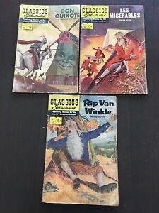 Classic Illustrated #9 #11 #12 (3) Comics