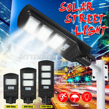New listing 120W Solar Street Yard Light Radar Pir Motion Sensor Wall Timing Lamp Remote Us