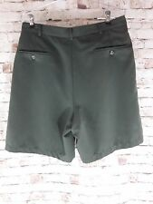 Haggar Men's Green Pleated Front Dress Shorts Size 34