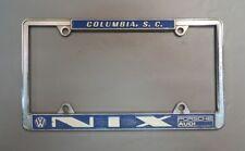 Vintage NIX Porsche VW Audi License Plate Frame - Columbia, SC - 356 911 912