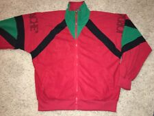 Vintage Jordache by High Class Red Green Track Jacket Men's Large