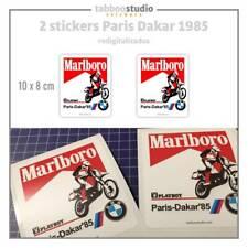 BMW Marlboro Paris Dakar 1985 dos Pegatinas 7° rallye vintage stickers adesivi