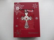 """Waterford Placcato Argento"""" 2014 Cross """"Albero di Natale ornamento-NEW & BOXED"""
