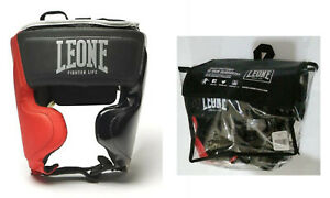 LEONE - CASCO - HEAD GEAR FIGHTER LIFE - CS430 - Black Taglia L