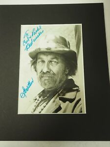 """Strother Martin autographed signed B&W Photo 5"""" x 7"""""""