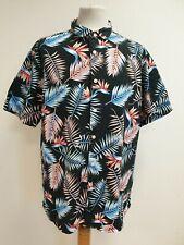 PLA ORIGINALE Hawaii Camicia per uomo pappagallo Petto Stampa Blu