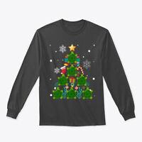 Funny Sea Turtle Christmas Tree Gildan Long Sleeve Tee T-Shirt