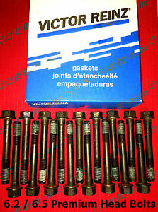 6.5 & 6.2 L Diesel Cylinder 6.5 Head Bolts Set MAHLE Chevy GMC Hummer