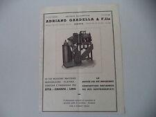 advertising Pubblicità 1947 MACCHINE TESSILI SOCIETA' ADRIANO GARDELLA - GENOVA
