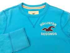 Hollister California Mens Medium Redondo Beach Surf Blue Long Sleeve Shirt (G1)